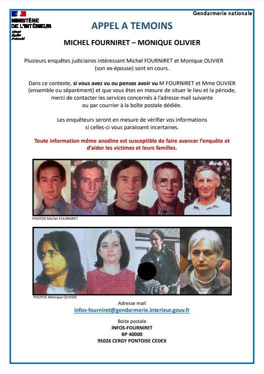 Appel à témoin autour de Michel Fourniret et son ex-épouse Monique Olivier
